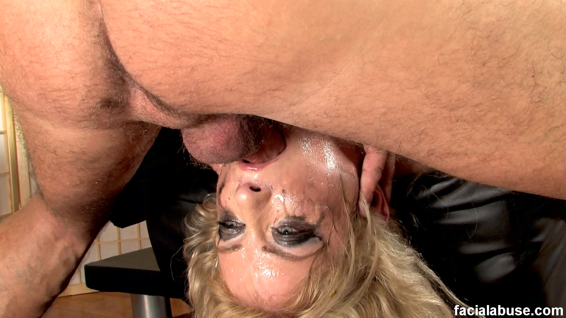 Big Tits Milf Face Fucked, Worships Balls, Licks Asshole, Pukes Gets Spit On